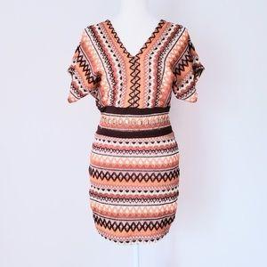 Retro Chevron Knit Mini Dress